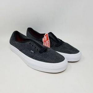 Vans Authentic Tweed Black Sneakers Men's Size 6.5
